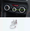 3PCS Silver Air Condition Knobs Decorative Circle For Subaru Forester 2019