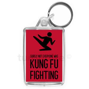 Kung-Fu-Fighting-Keyring-Funny-Joke-Gift-Key-Fob-Keychain-Medium-Size