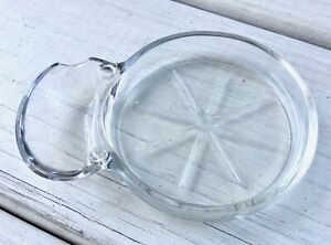 Clear-Glass-Coaster-w-Spoon-Rest-Trinket-Dish-Pressed-Bar-Barware-Gift