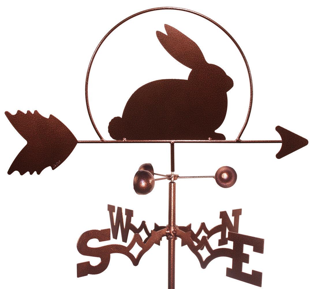 Conejo jardín veleta con montaje