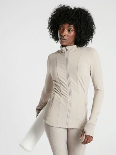 WHITE SIZE M            #405475 N0830 NWT Athleta Shanti Jacket in Powervita