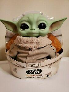 Stars-Wars-The-Mandalorian-Baby-Yoda-Plush-Doll-The-Child-11-Inch-Toy-by-Mattel