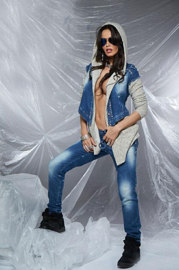 By Alina Mexton Femmes 2-diviseurs Jeans Cardigan En Survêtement Boyfriendjeans Xs 34