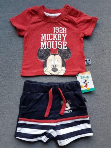 Disney Mickey Mouse Baby Set 2teilig Jungen Jogger Hose Shirt 62 68 74 NEU