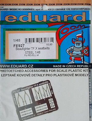 Revell Beaufighter TF.X kit Eduard 1//48 FE927 Colour Steel Etch Seatbelts