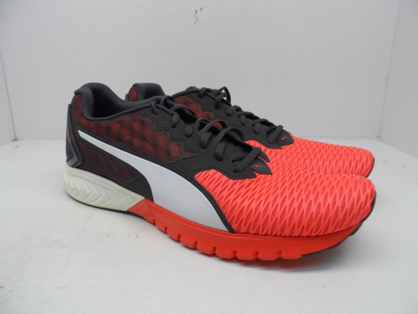 Puma Men's Ignite Dual Athletic Running shoes Red Blast Asphalt Size 12M