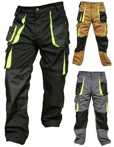 Mens-Cordura-Work-Trousers-Kneepad-amp-Holster-Pockets-Cargo-Combat-Working-Pants