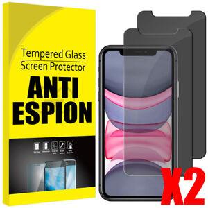 Verre Trempé iPhone Vitre Protection Ecran Anti Espion 12 11 Pro Max/Xs/XR/X SE