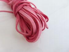 5m x 3mm Ecopelle Rosa Imitazione Pelle Scamosciata Cavo Tanga Pizzo fabbricazione di litte prendendo gioco COLLANA