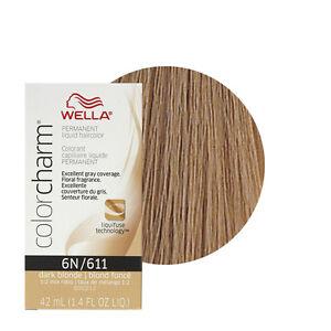 Wella Color Charm Permament Liquid Hair Color 42mL Dark Blonde 611 ...
