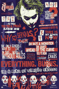The Dark Knight Joker 12x16 24x32 Batman Movie Silk Poster Art Print Wall Decals