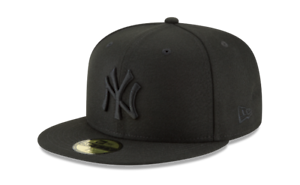 New Era 59Fifty Black on Black New York Yankees Logo fitted hat