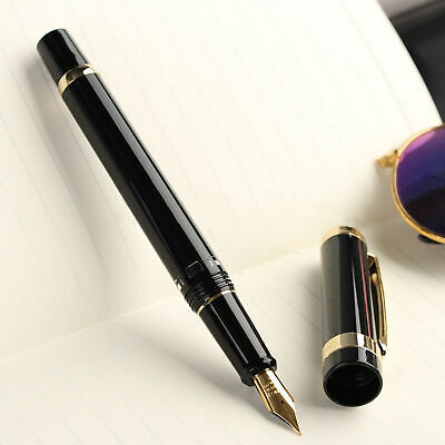 Transparent Professional 14K Wing Sung 698 Piston Fountain Gold Pen Golden Nib