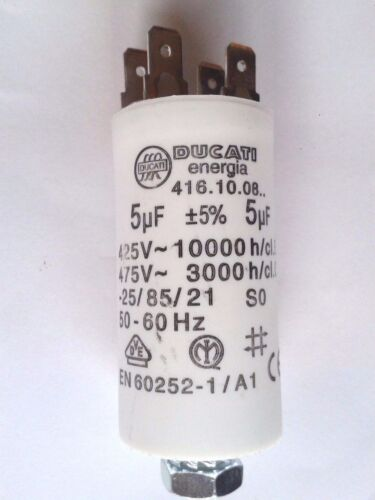 Ducati Betriebs//Motorkondensatoren 1 µF 60 µF mit Steckanschluß,Neu