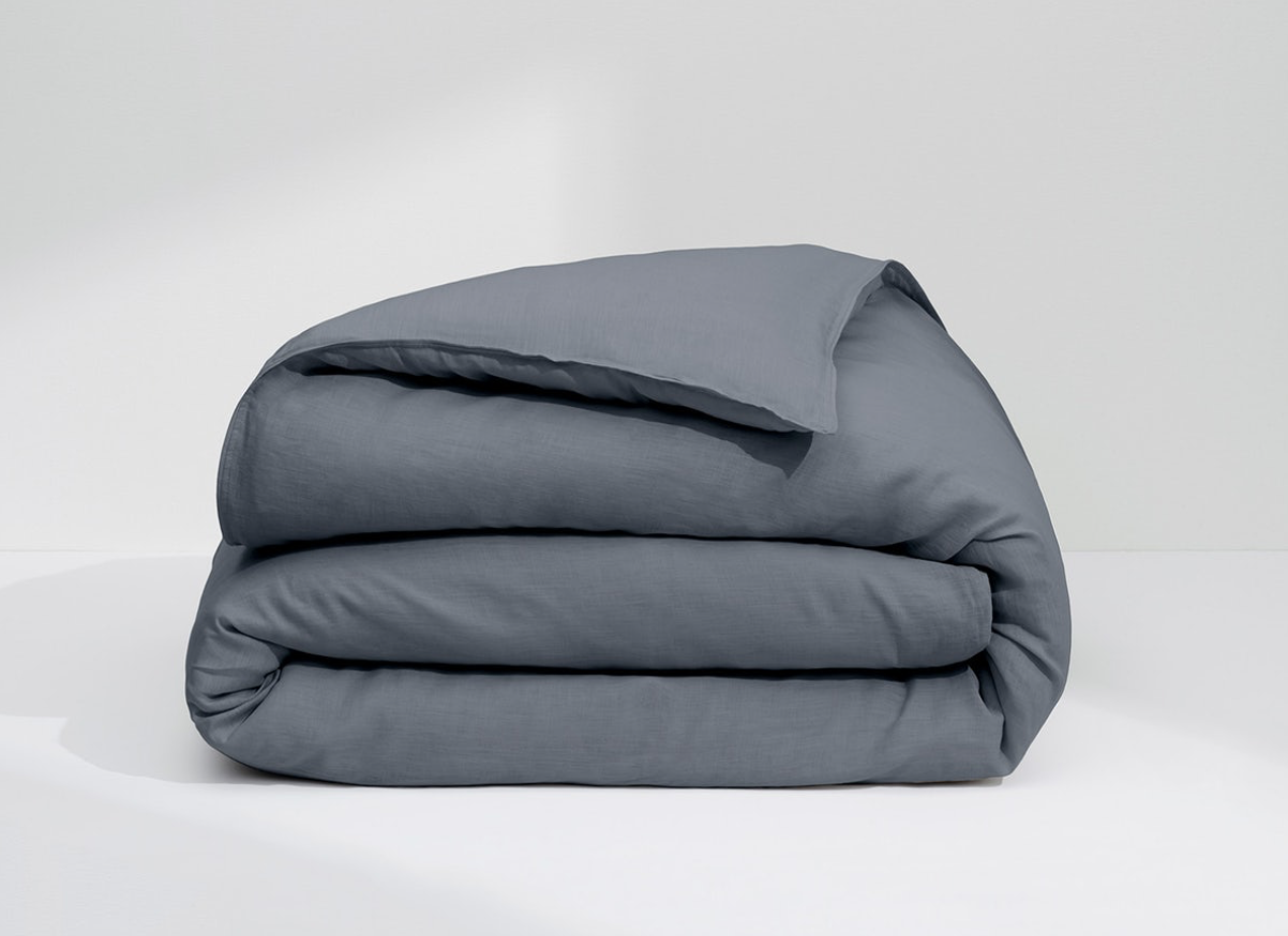 NEW Casper  The Airy Linen Sheets  Duvet Cover Twin Twin XL, Charcoal