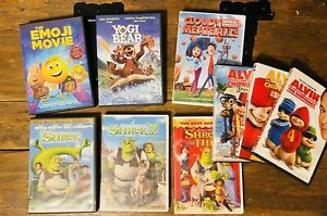 Kids Dvd Lot Yogi Bear Cloudy With A Chance Of Meatballs Alvin And The Chipmunks