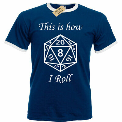 Womens This is how i ROLL T Shirt Dungeons and Dragons D/&D Rpg bang long sleeve