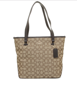 Image Is Loading Nwt Coach Zip Top Tote Bag Purse In