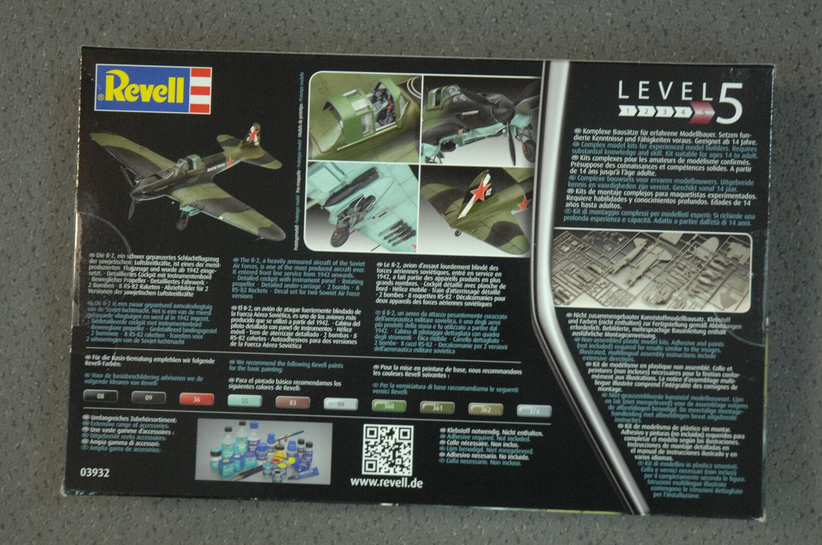 Revell 03932 IL-2 Stormovik Kit Kit Kit 1 48 NEW 398490