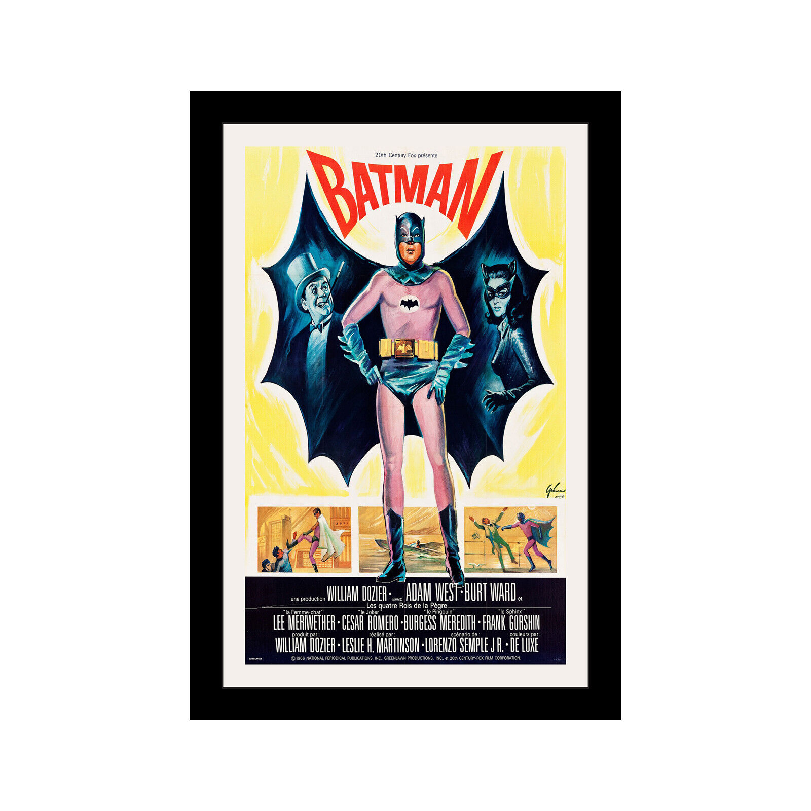BATMAN (TV) - 11x17 Framed Movie Poster by Wallspace