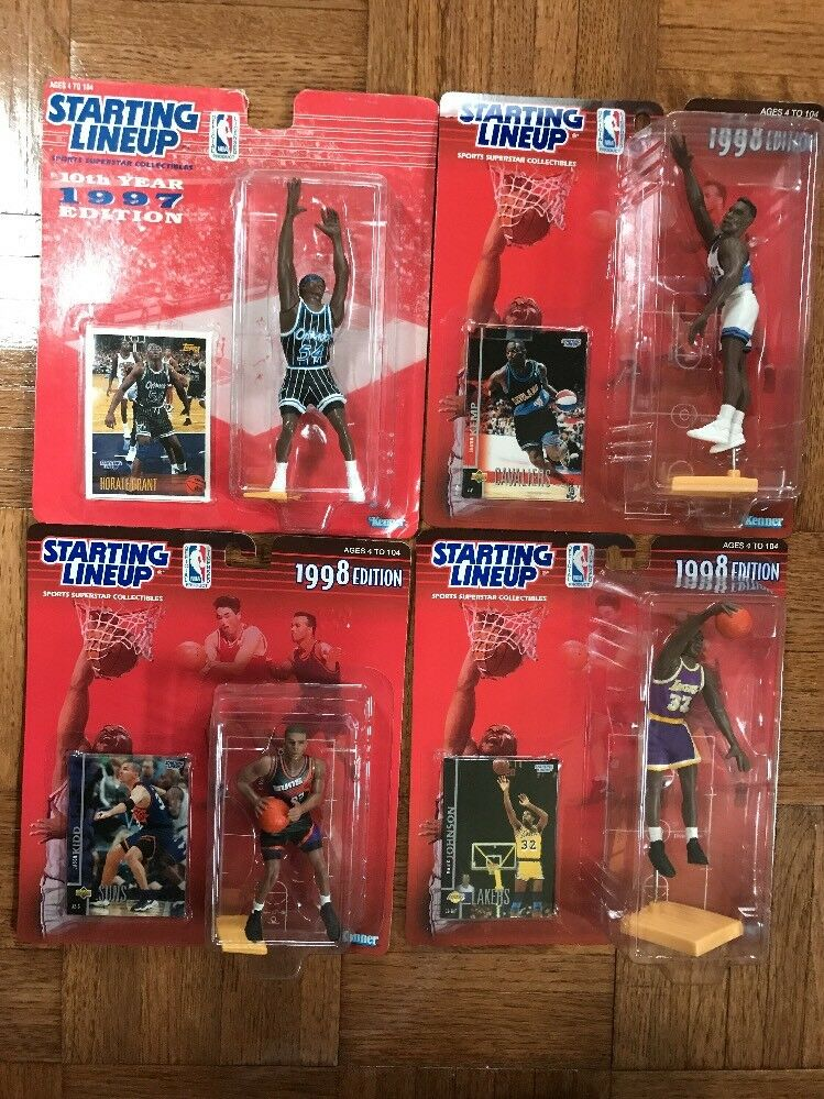 Starting Lineup NBA BASKETBALL 4 FIGURES 1997-98 KIDD GRANT MAGIC JOHNSON KEMP