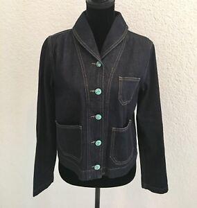 RALPH-LAUREN-Denim-amp-Supply-Blue-Jean-Denim-Jacket-Blazer-Button-Up-Large-New