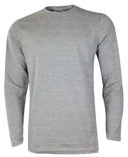 New Mens Gaffer Plain T-shirt Long Sleeve Crew Neck 100/% Cotton S-2XL Casual Top