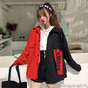 Korean Mori Girl Harajuku BF Street Baseball Jacket Loose Patchwork Coat Japan