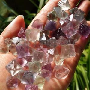 50g-Fluorite-Octahedron-Healing-Reiki-Tumbled-Stone-Gemstones-Crystal-Healing