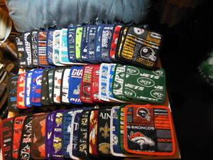 "NFL logo Potholders in all football team fabrics, 8""x 8"" - NEW"