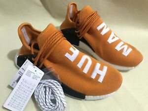 d39c3419f457b Adidas X Pharrell Williams NMD HU Human Race Orange White