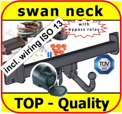 swan neck Towbar /& Electrics ISO 13pin BMW X3 E83 2004 to 2011