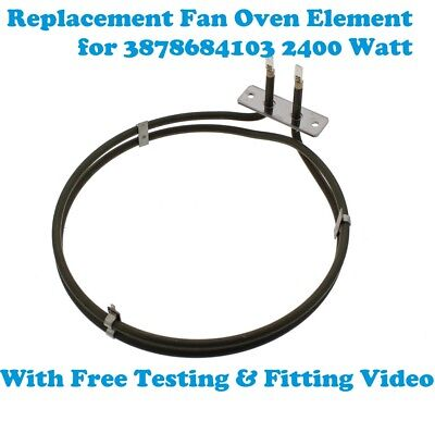 Electrolux Replacement Fan Oven Cooker Heating Element 2 Turns 2400w