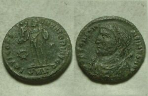 Rare Genuine Ancient Roman coin Constantine scepter mappa Jupiter Victory wreath