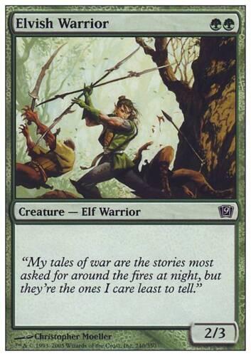 ▼▲▼ 4x Guerrier elfe 9eme #240 VF Magic Elvish Warrior