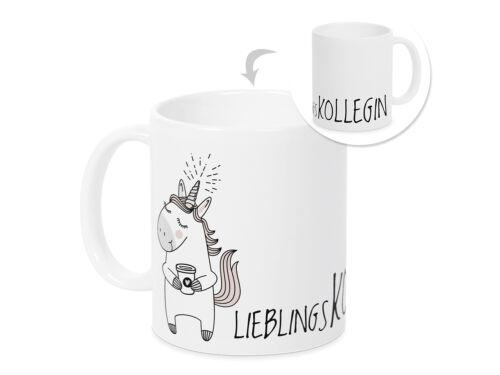 Kaffee-Tasse Lieblingskollegin Einhorn Geschenk Mitarbeiter Weihnachten Jubiläum