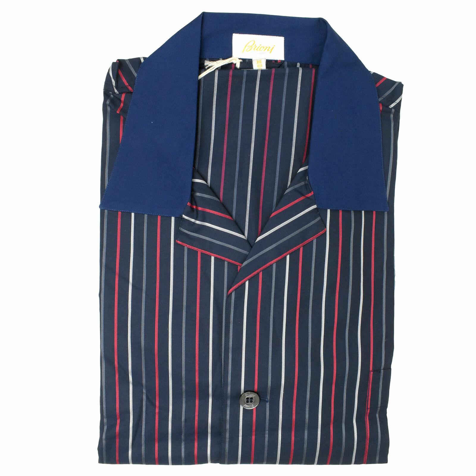 Brioni Men's bluee Striped Pajamas