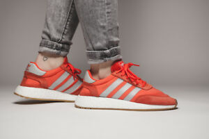 Adidas Iniki Boost Runner W Size 6 1/2 Orange Grey Ultra NMD Yeezy
