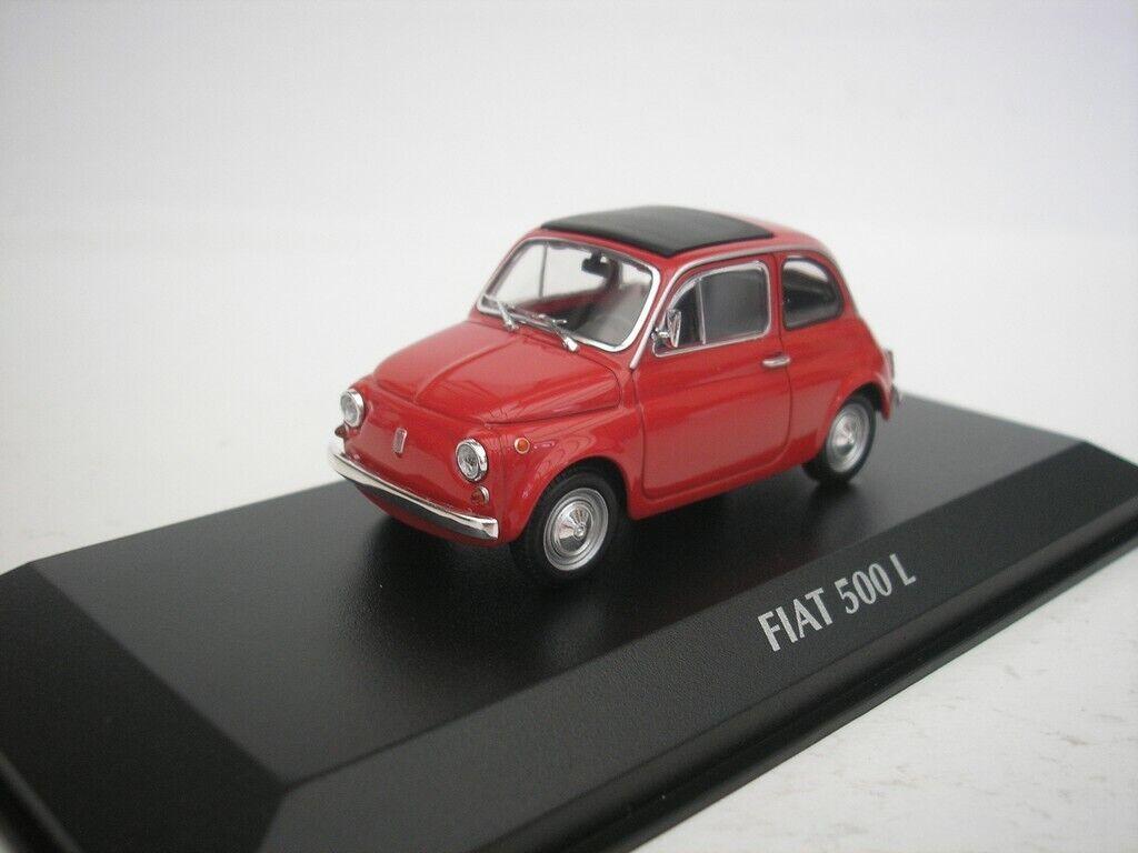 Ahorre 60% de descuento y envío rápido a todo el mundo. Fiat 500L 500L 1965 Rojo Rojo Rojo 1 43 maxichamps 940121600 Nuevo  promociones de equipo