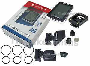SIGMA BC16.16 STS CAD Wireless Bike Cycle Computer Cadence Speedometer Backlit