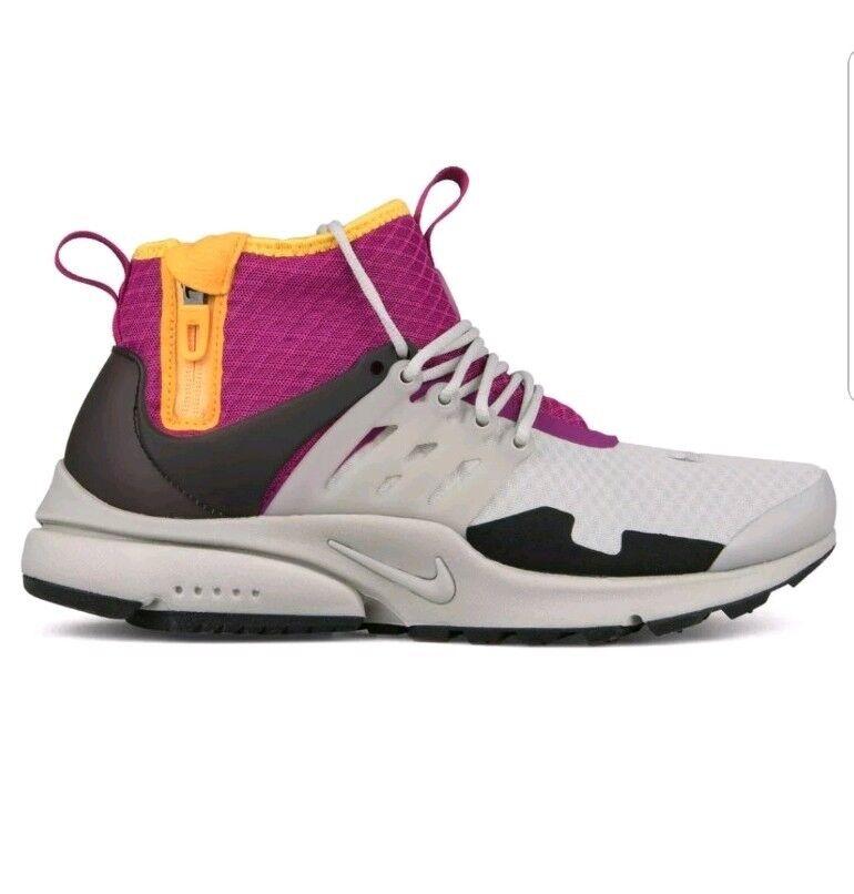 Nike Nikelab Air Presto Mid SP Granite Rave Pink Pro gold Uk Size 11  AA0868-006