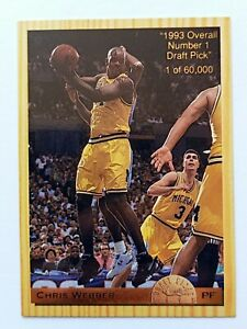 Chris-Webber-PF-Rookie-Card-RC-Draft-Pick-Classic-1993