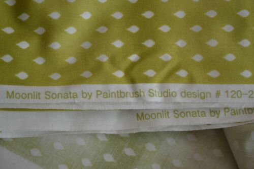White on Green Quilting M8906 Paintbrush//Moonlit Sonata//120-272 By 1//2 Yd