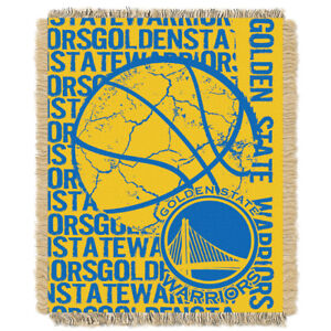 best loved 4b554 3be27 Golden State Warriors NBA Triple Woven Jacquard Throw Double Play Series  48x60