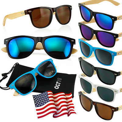 b4d7f20a90 Bamboo Sunglasses Wooden Wood Mens Womens Retro Vintage Summer Glasses  Vintage