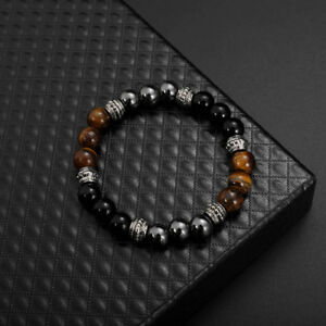 oeil-de-tigre-de-Pierre-mat-noir-bracelet-Pierre-de-bijoux-excellente-energieWI