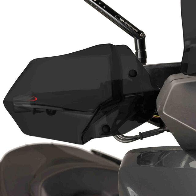 Yamaha X-Max 125 2014-2021 Puig Motorcycle Handguards Brush Guards Dark Tint