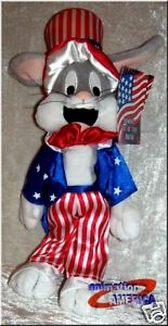 Bugs-Bunny-Uncle-Sam-bean-bag-plush-retired