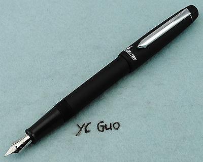 2014 Duke New Model Uranus U78G Fountain Pen Medium Nib With Screw Cap Black