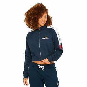 New-Ellesse-Womens-Track-Top-Jacket-Navy-Blue-Alagna-Full-Zip-10-uk